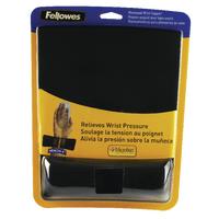 Fellowes Fabrik Blk Mouse Pad/Wrist Rest