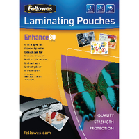 Fellowes A4 Laminating Pouch 80mic Pk25