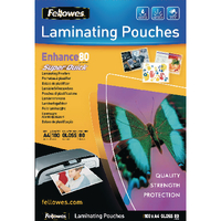 Fellowes A4 Quick Laminating Pouch Pk100