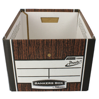 Fellowes Presto Storage Box Woodgrain