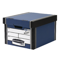 Fellowes Premium Presto Blue Storage Box