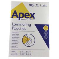 Fellowes Apex A3 Laminating Pouch Pk100