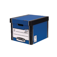 Fellowes Blu/Wht Presto Storage Box Pk10