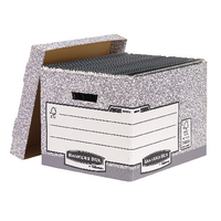 Fellowes Grey Storage Box Pk10 00810FF
