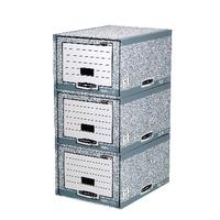 Fellowes Grey/White Storage Drawer Pk5