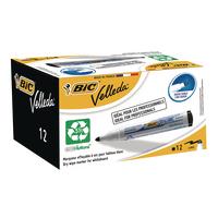 Bic Velleda 1701 Blk Bullet Marker Pk12