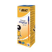 Bic Orange Fine Ballpoint Pens Blue Pk20