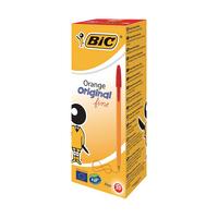 Bic Orange Fine Red Ballpoint Pen Pk20