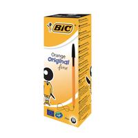 Bic Orange Fine Black Ballpoint Pen Pk20