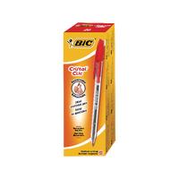 Bic Cristal Clic Red Rtrct Ball Pen Pk20