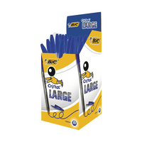 Bic Blue Cristal Large Ball Pens Pk50
