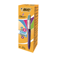 Bic 4 Colours Fashion Grip Pens Pk12