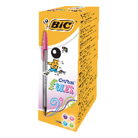 Bic Cristal Asstd Large Ball Pen Pk20