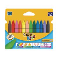 Bic Kids Plastidec Triangle Crayons Pk12