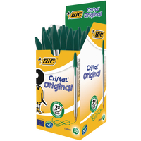 Bic Cristal Green Ball Point Pen Pk50