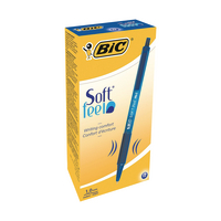 Bic Soft Feel Blue Rtrct Ball Pen Pk12