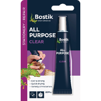 Bostik All Purpose Clear Glue 20ml Pk6
