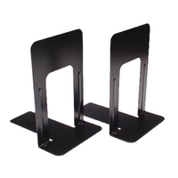 Large Deluxe Bookends Black Pk2