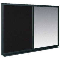 Bi-Office 600x900mm Blk/Slv Combo Board