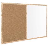Bi-Office 600x400mm Cork/Wipe Off Board
