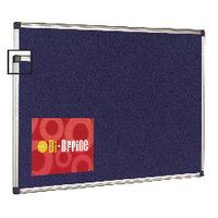 Bi-Office Blue 1200x900 Alum Feltboard
