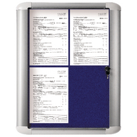 Bi-Office 450x614mm Blue Ext Disp Case