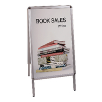Bi-Office Grey A-Frame A1 Info Board