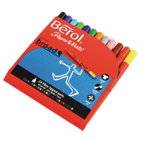 Berol Colourbroad Pen Asstd WB Ink Pk24