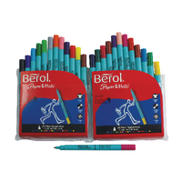 Berol Colourfine Pen Asstd W/B Ink Pk24