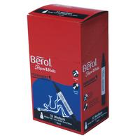 Berol Chisel Black Perm Marker Pen Pk12