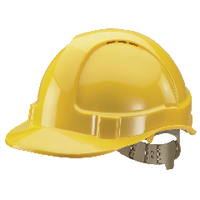 Comfort Vented Safety Helmet Yellow