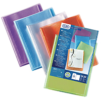 Elba A4 20-Pocket Display Book Asstd