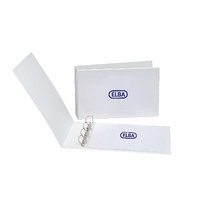 Elba A3 Wht 30mm Pres 4 Ring Binder Pk2