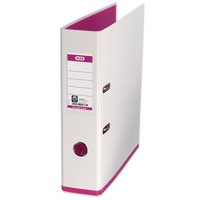 Mycolour White/Pink A4 Lever Arch File