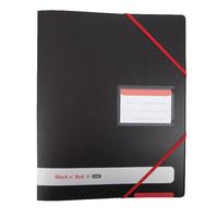 Black n Red 16mm 4 Ring Binder A4