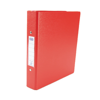 Elba Red A5 2-Ring Binder - Pk10