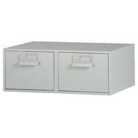 Bisley Grey Card Index Cabinet 8x5in DBL