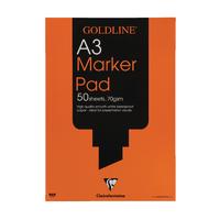 Goldline White A3 Marker Pad GPB1A3