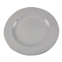 White 250mm Porcelain Plate Pk6