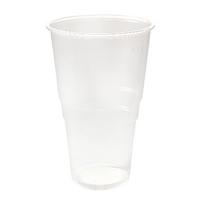 Plastic Pint Glass Clear Pk50