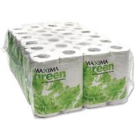 Maxima Green White Toilet Roll Pk48