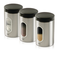 Kitchen Stainless 3 Canister Set 508453