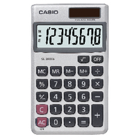 Casio 8-digit Pocket Calc SL-300SV