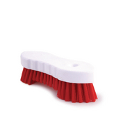 Red Moulded Scrubbing Brush