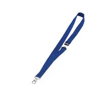 Durable Blue Textile Badge Necklace 20mm