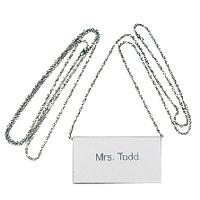 Durable Badge Chain Silver Pk10 8104/23