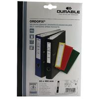 Durable Ordofix Black Spine Label Pk10