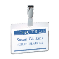 Durable Visitor Name Badge 60x90mm Pk25