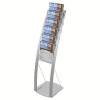 Deflecto 6-Pocket Floor Stand Silver