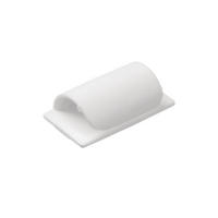 D-Line Cable Clips Self-Adhsv White Pk20